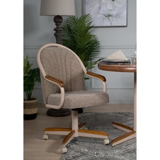 Casual Dining Cushion Swivel-and-Tilt Rolling-caster Chair & Buy Swivel Kitchen u0026 Dining Room Chairs Online at Overstock.com ...