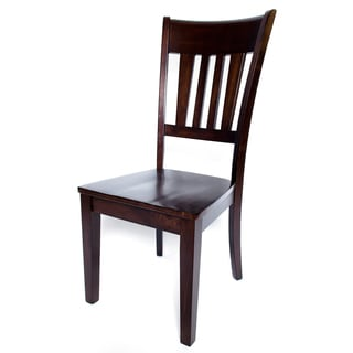 Solid Hardwood Contemporary Brown Dining Chair (Set of 2)