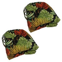 "Blazing Needles 16-inch U-Shaped Outdoor Chair Cushion (Set of 4) - 16"" x 16"""