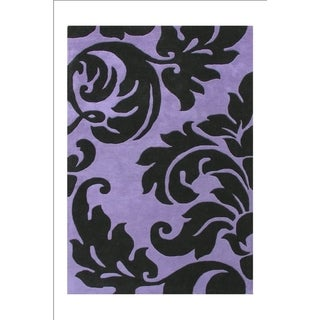 Alliyah Handmade Sabrina Purple Wool Rug (9' x 12')