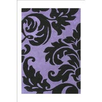Alliyah Handmade Sabrina Purple Wool Rug - 9' x 12'