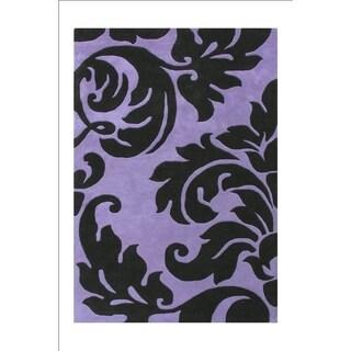 Alliyah Handmade Sabrina Purple Wool Rug (9' x 12')