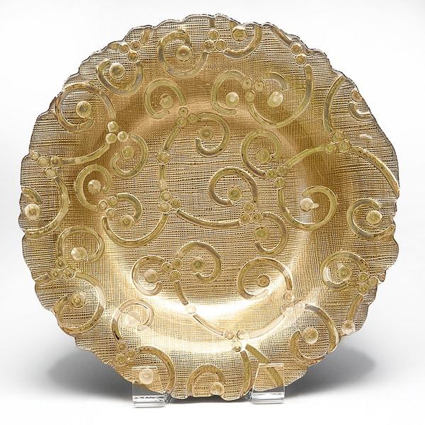 Sequins Gold Soup Salad or Pasta Bowl