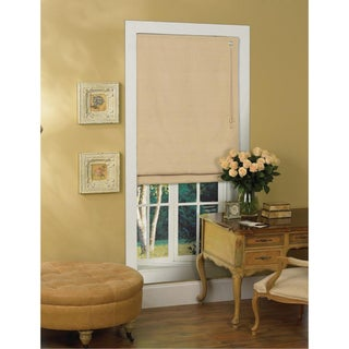Lewis Hyman Latte Thermal Fabric Roman Shade