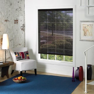 Lewis Hyman Premium Tuxedo Black Fabric Roller Shade