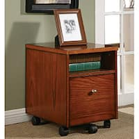 Copper Grove Holmsley Wood and Veneer Mobile File Cabinet