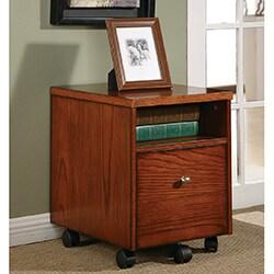 aurora wood and veneer mobile file cabinet