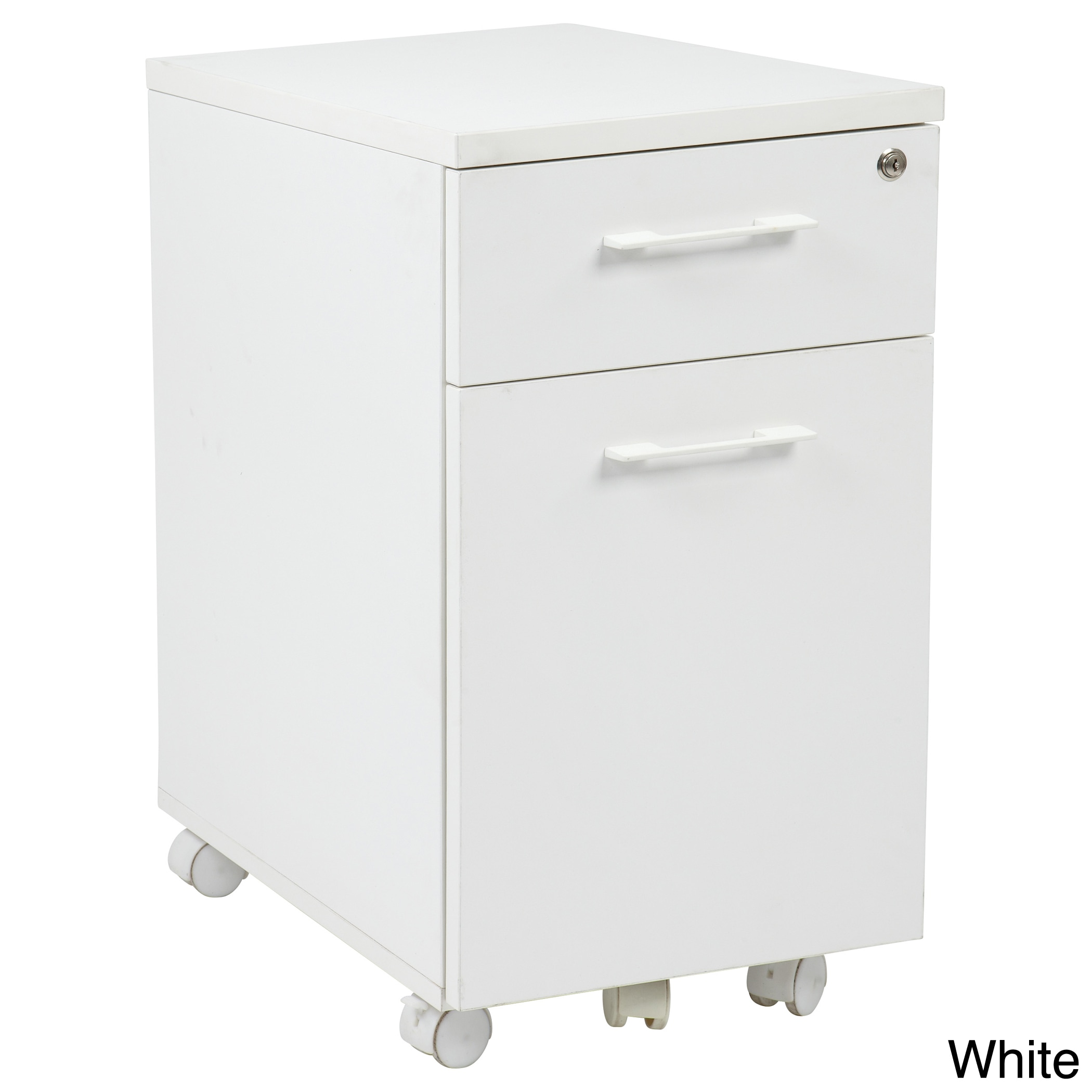 Office Star Products Prado Mobile Laminate File Cabinet w...