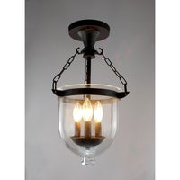 shop madigan 3 light clear glass 10 inch antique pendant lamp on