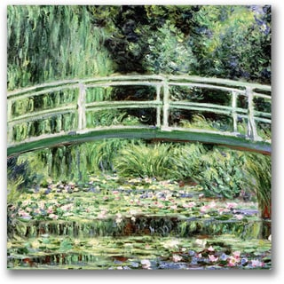 Claude Monet 'White Waterlillies, 1889' Canvas Art