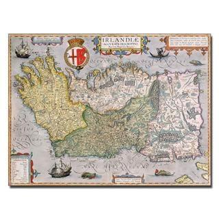 'Map of Ireland' Canvas Art