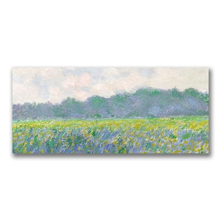 Claude Monet 'Field of Yellow Irises at Giverny' Canvas Art