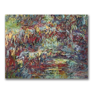 Claude Monet 'The Japanese Bridge Giverny' Gallery-Wrapped Canvas Art