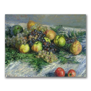 Claude Monet 'Still Life with Pears and Grapes' Canvas Art
