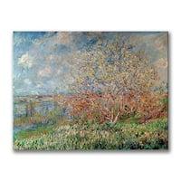 Claude Monet 'Spring 1880' Canvas Art