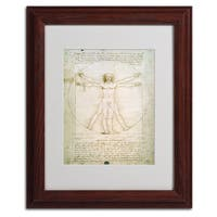 Leonardo da Vinci 'The Proportions of the Human Figure' Framed Matted Art - Multi