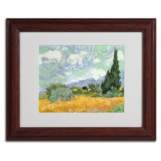 Vincent van Gogh 'Wheatfield with Cypresses' Framed Matted Art