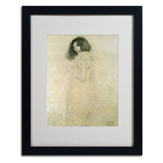 Gustav Klimt 'Portrait of a Young Woman' Framed Matted Giclee Print Art