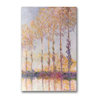 Claude Monet 'Poplars on the Banks of the Epte' Canvas Art