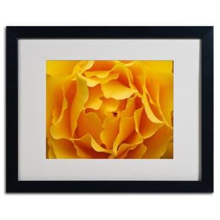 Kurt Shaffer 'Hypnotic Yellow Rose' Horizontal Framed Matted Art