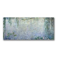 Claude Monet 'Waterlillies, Morning II' Canvas Art - Multi
