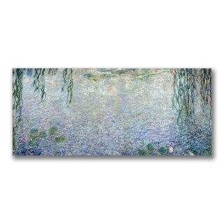 Claude Monet 'Waterlillies, Morning II' Canvas Art - Multi