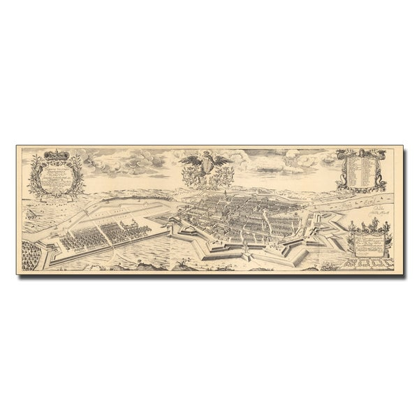 Schultz 'Map of Berlin and Coelln, 1688' Canvas Art