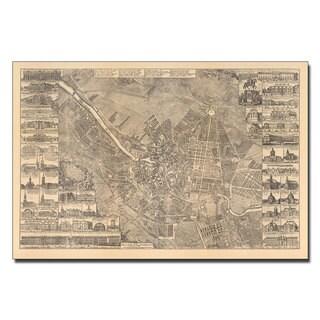 Schleun 'Map of Berlin, 1773' Canvas Art