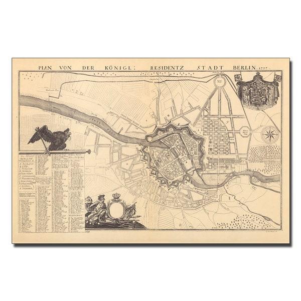 Dusableau 'Map of Berlin, 1737' Canvas Art - Multi