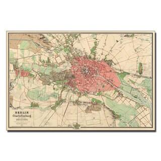 'Map of Berlin, 1857' Canvas Art