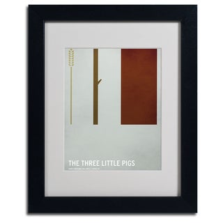 Christian Jackson 'The Three Little Pigs' Framed Giclee Print Matted Art