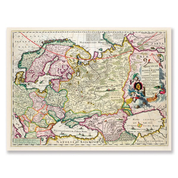 Map Of Asia Today.Map Of Asia Minor 1626 Canvas Art Multi