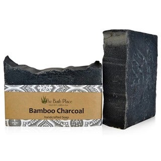The Bath Place Handcrafted Bamboo Charcoal Soap Duo (Set of 2)