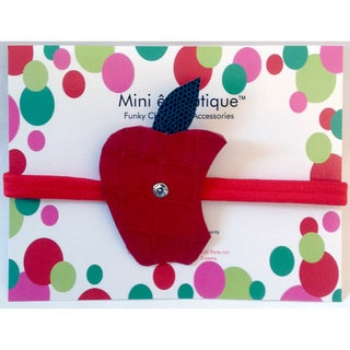 Mini ê Boutique Leather Apple Headband