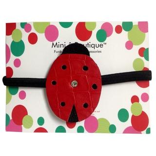 Mini e Boutique Ladybug Leather Headband