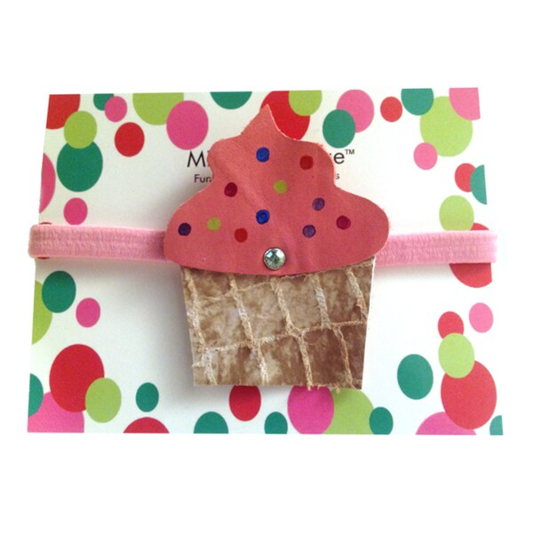 Mini e Boutique Cupcake Leather Headband