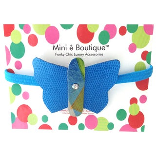 Mini e Boutique Butterfly Leather Headband