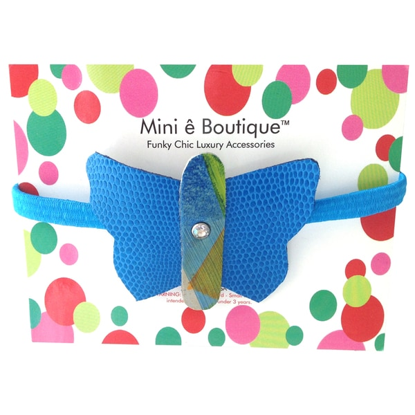 Mini e Boutique Butterfly Leather Headband