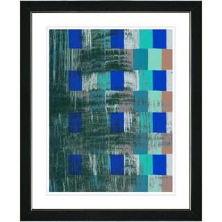 Studio Works Modern 'Blue Alchemical Table' Framed Print
