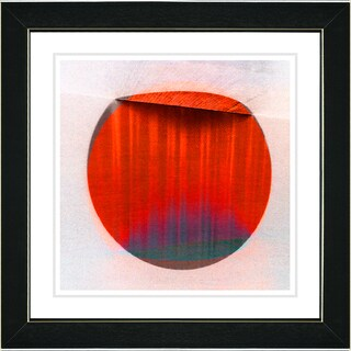 Studio Works Modern 'Sol - Red' Framed Print