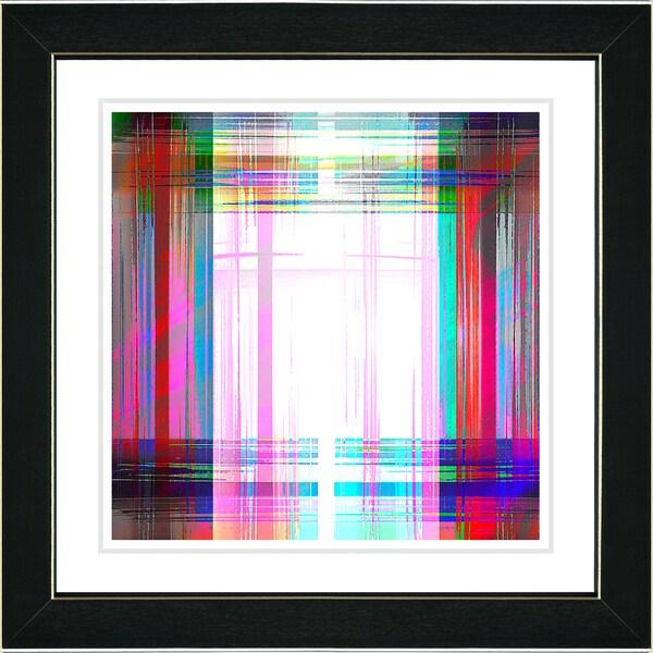 Studio Works Modern 'Malawali Strait - Pink' Framed Print