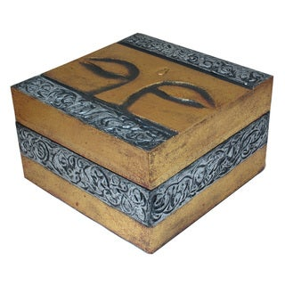 Handmade Buddha Eyes Wooden Box (Indonesia)