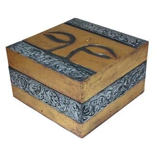 Handmade Buddha Eyes Wooden Box (Indonesia)