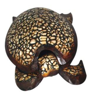 Handmade Eggshell Turtle Figurine (Indonesia)
