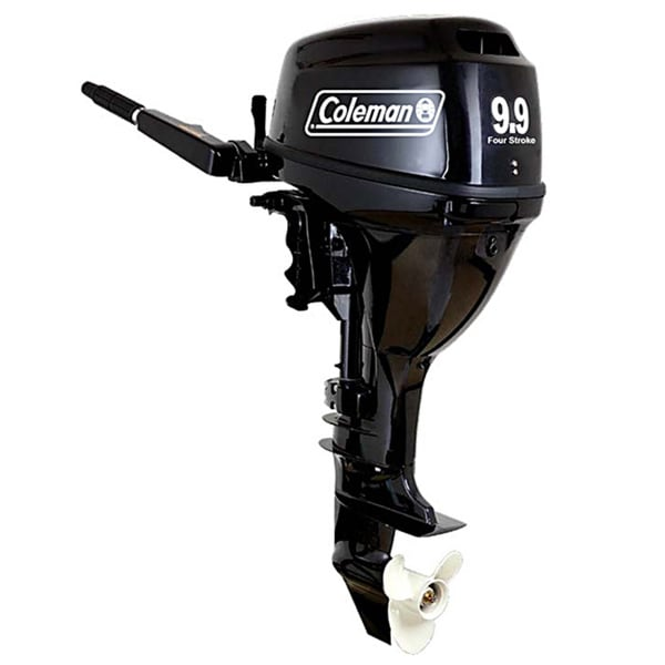coleman 9 9 hp electric start outboard motor free