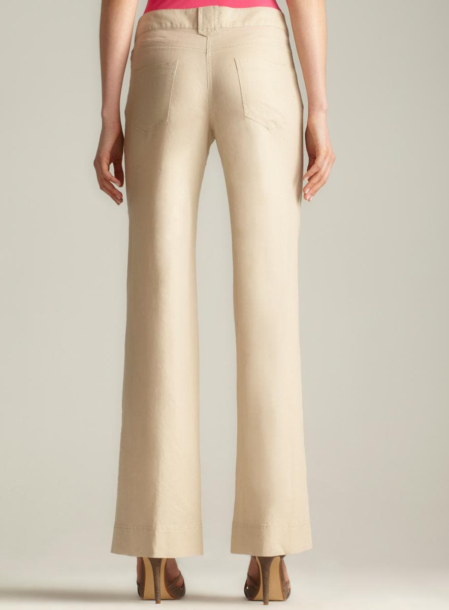 Max Studio Linen Trousers - Thumbnail 1