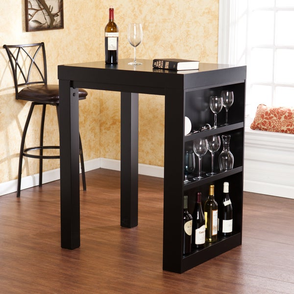 Upton Home Benton Black Bistro Table