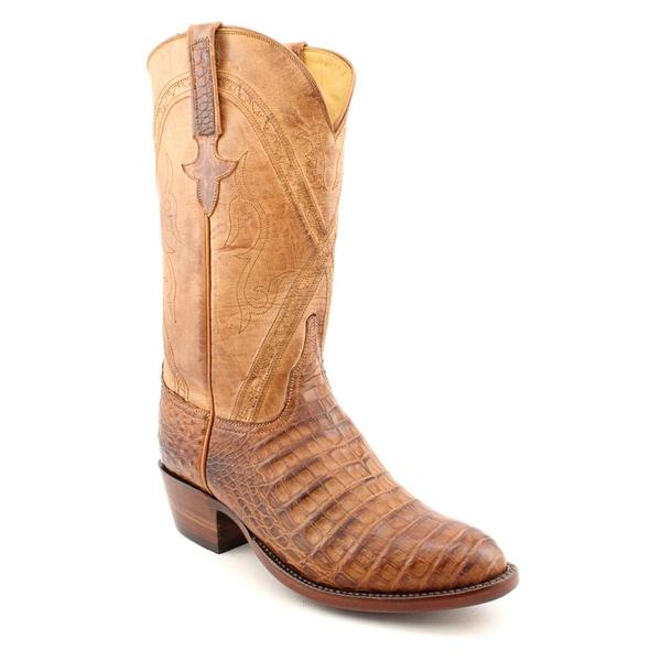 Lucchese Men's 'L139963' Animal Print Boots - Wide (Size 7)