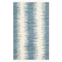 Safavieh Hand-woven Montauk Blue Cotton Rug - 2'6 x 4'
