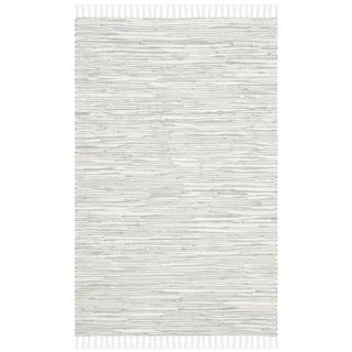 Safavieh Hand-woven Montauk Silver Cotton Rug - 2'6' x 4'